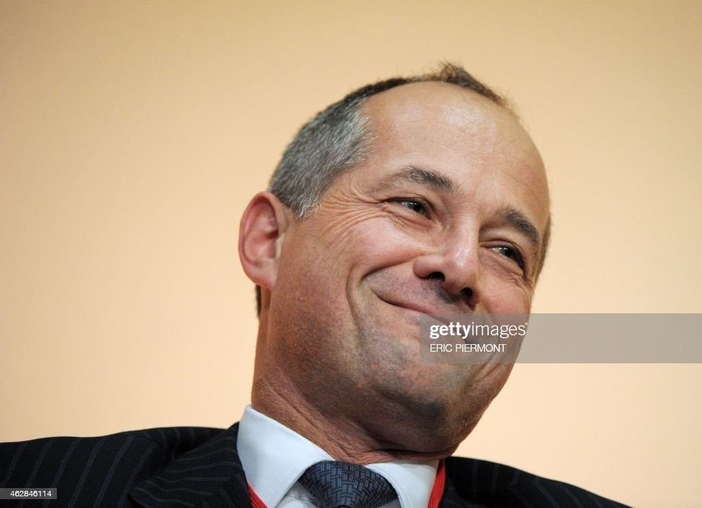 Societe Generale Group's Chairman and Chief Executive Officer Frederic Oudea attends the FrancoAfrican forum at the Economy Ministry in Paris on...