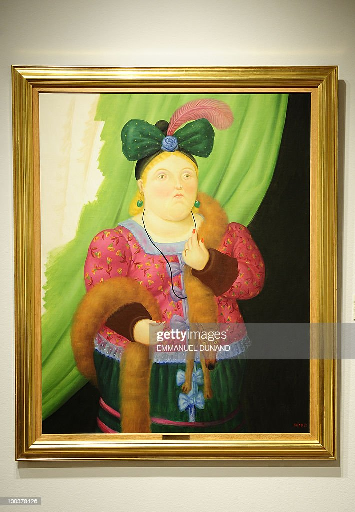 'Society Lady' by Fernando Botero is on display during a preview of Chrisite's Latin American Art auctions, May 24, 2010 in New York. Christie's will hold its Latin American Art auctions on May 26 and 27, 2010. AFP PHOTO/Emmanuel Dunand
