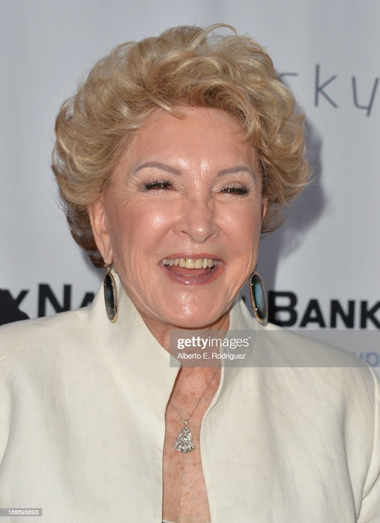 Society of Singers co-founder Ginny Mancini arrives to The Geffen Playhouse's Annual 'Backstage at the Geffen' Gala at Geffen Playhouse on May 13, 2013 in Los Angeles, California.