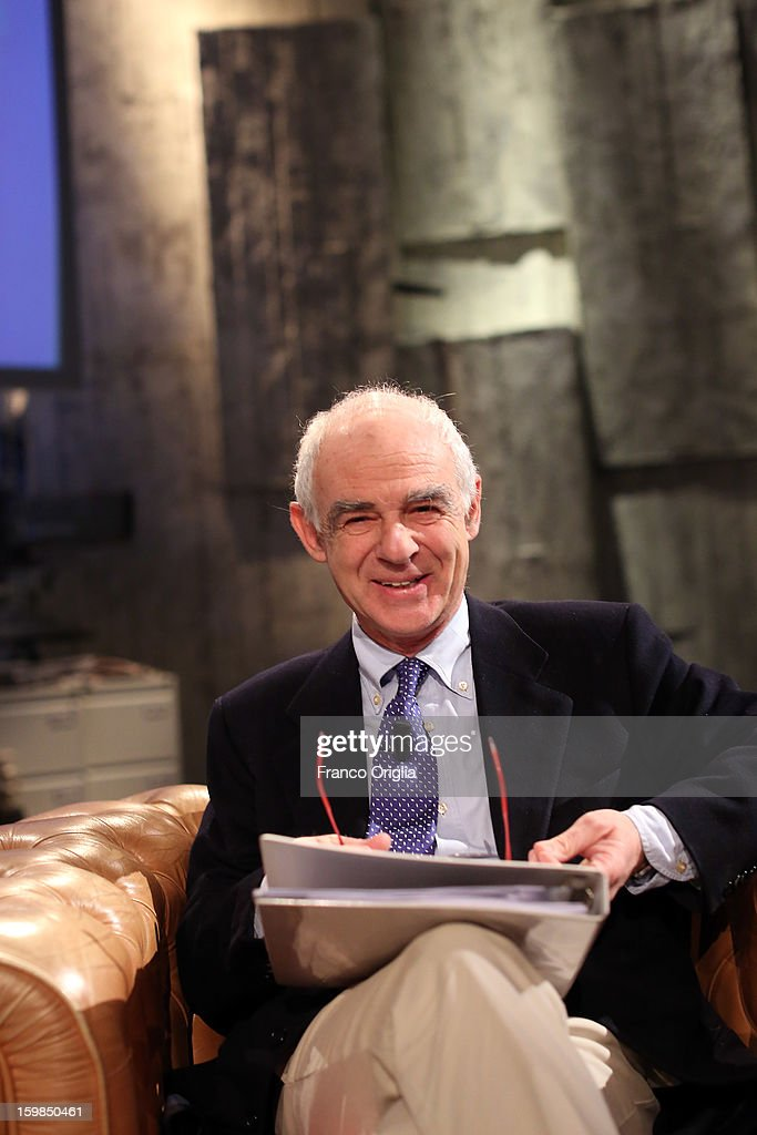 Sociologist and professor at Turin University, Luca Ricolfi attends 'Piazza Pulita' Italian TV Show on January 21, 2013 in Rome, Italy.