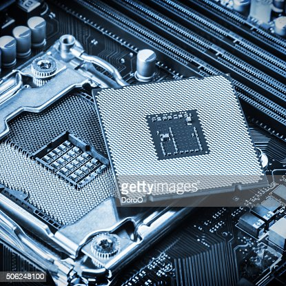 CPU socket and processor : Stock Photo