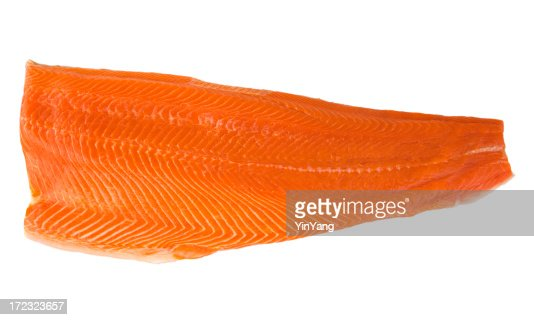 Sockeye Salmon Fillet, Raw Copper River Fish Food on White