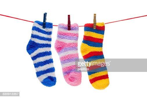 Calcetines montaje en cable : Foto de stock