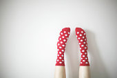 socks with polka dots