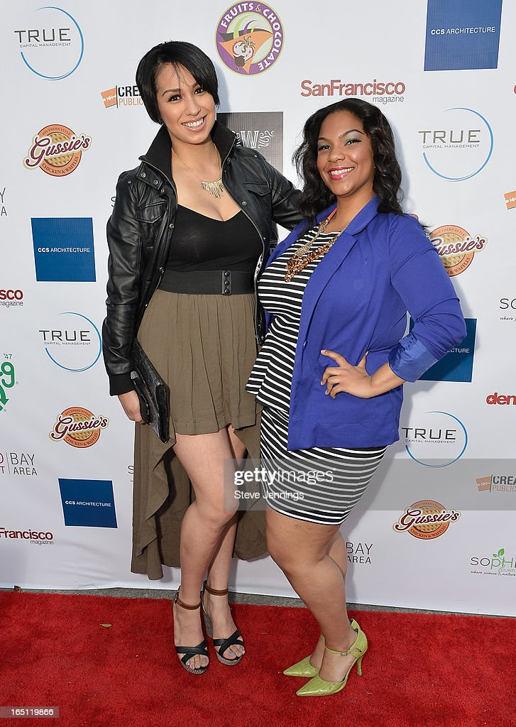 Socorro and Chauntae Bailey (L-R) attend the 6th Annual 'Where Hip Hop Meets Couture' Fashion Show at Dog Patch Wine Works on March 30, 2013 in San Francisco, California.