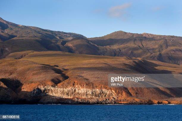 Socorro island sea cliff volcanic island part of the Revillagigedo archipelago on the Pasific ocean Mexico