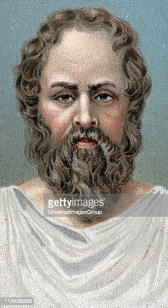 Socrates Ancient Greek philosopher Early 20th century chromolithograph