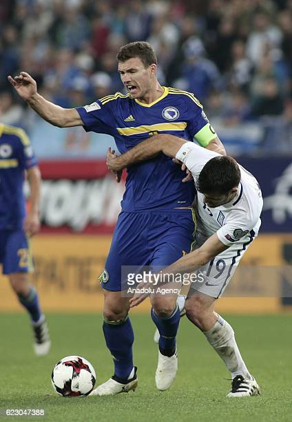 Socratis Papastathopoulos of Greece in action during the 2018 World Cup qualifying Group H football match between Greece and Bosnia and Herzegovina...