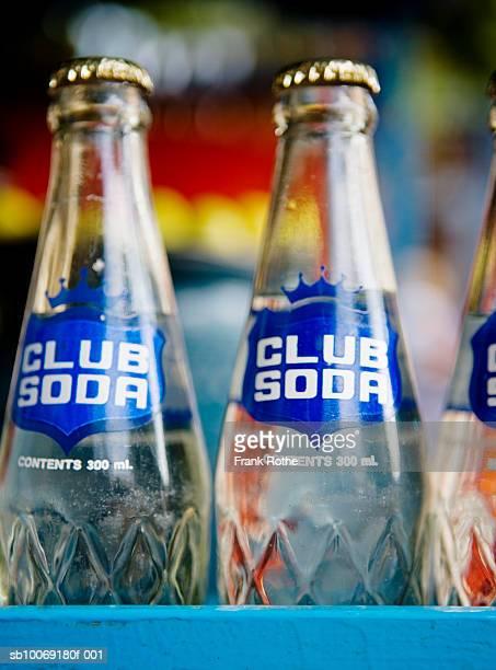 Soda bottles, close-up