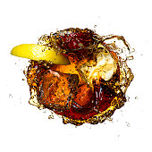 Soda lemon ice splash