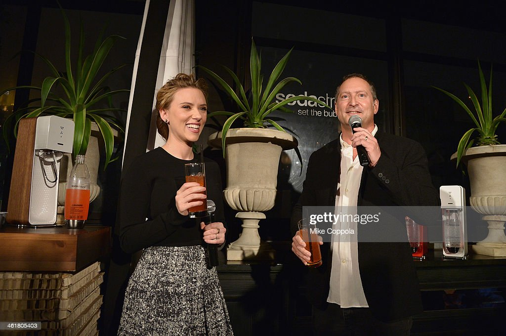 SodaStream unveils Scarlett Johansson as its first-ever Global Brand Ambassador at the Gramercy Park Hotel on January 10, 2014 in New York City.