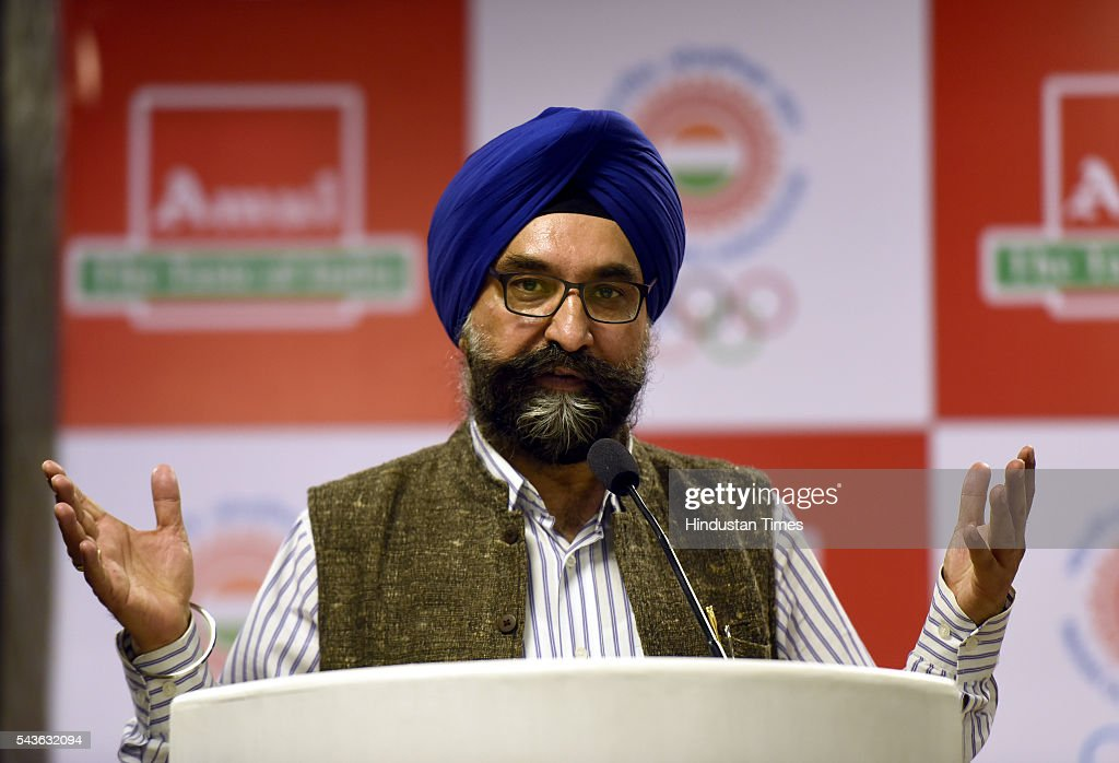 R S Sodhi, MD, Gujarat Cooperative Milk Marketing Federation (Amul), the official Sponsor of the Indian contingent for the Rio 2016 Olympic, during a news conference on June 29, 2016 in New Delhi, India.
