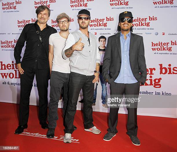 Soehne Mannheims attends the 'Heiter Bis Wolkig' Germany Premiere at Cinedome on MediaPark on August 21 2012 in Cologne Germany