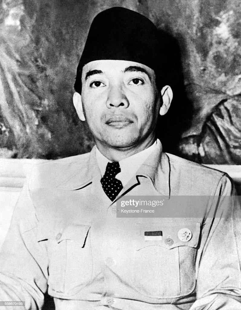 Soekarno, président de la république d'Indonésie, le 8 novembre 1945.