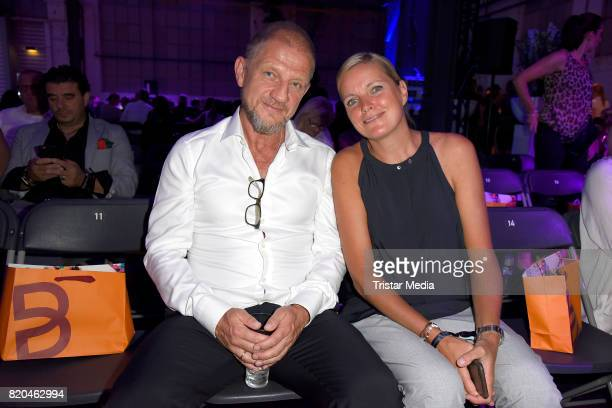 Soenke Wortmann and Astrid Rebbelmund attend the Breuninger show during Platform Fashion July 2017 at Areal Boehler on July 21 2017 in Duesseldorf...