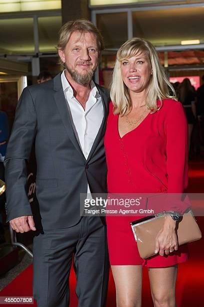 Soenke Wortmann and Cecilia Kunz attend the Berlin premiere of the film 'Schossgebete' at Kino International on September 8 2014 in Berlin Germany