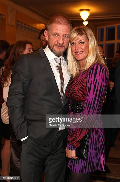 Soenke Wortmann and his wife Cecilia during the Bavarian Film Award 2015 on January 16 2015 in Munich Germany
