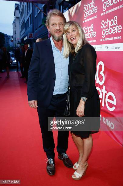 Soenke Wortmann and his wife Cecilia Kunz attend the premiere of the film 'Schossgebete' at Residenz Astor Film Lounge on September 5 2014 in Cologne...