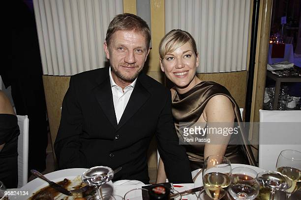Soenke Wortmann and wife Cecilia Kunz attend the 37 th German Filmball 2010 at the hotel Bayrischer Hof on January 16 2010 in Munich Germany