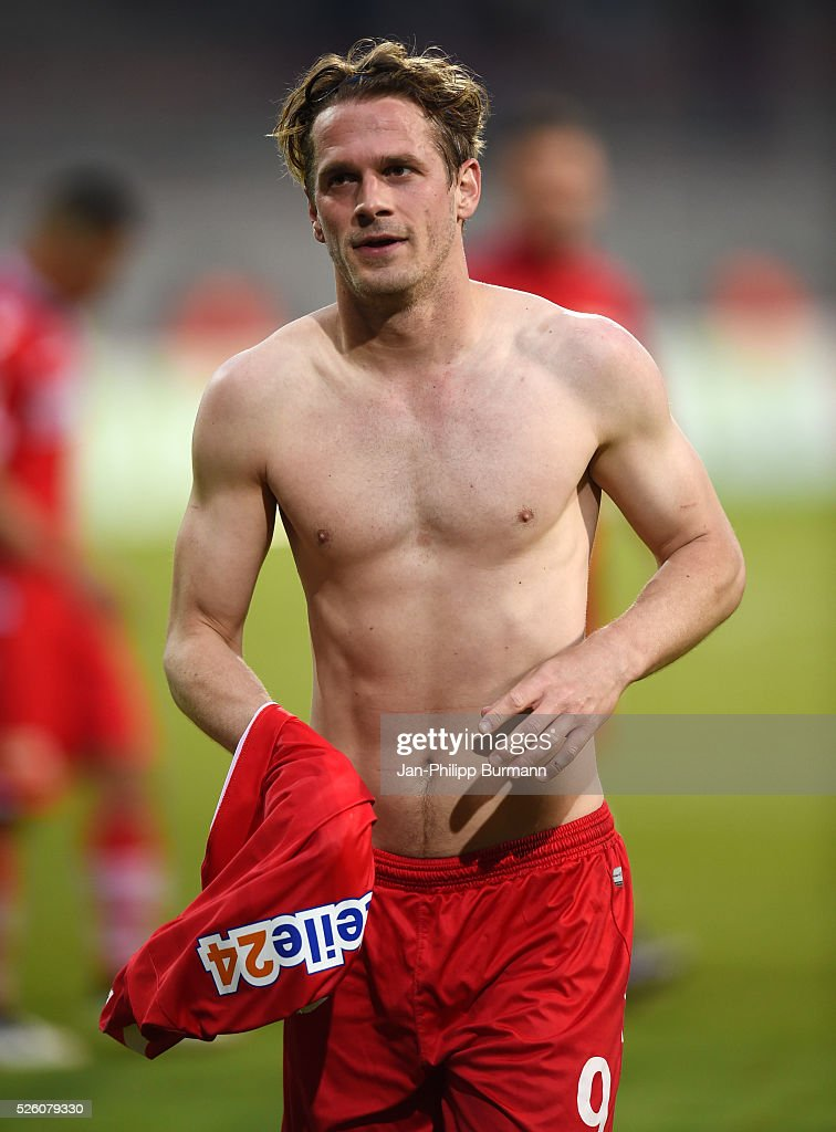 Soeren Brandy of 1.FC Union Berlin after the game between Union Berlin and dem VfL Bochum on april 29, 2016 in Berlin, Germany.
