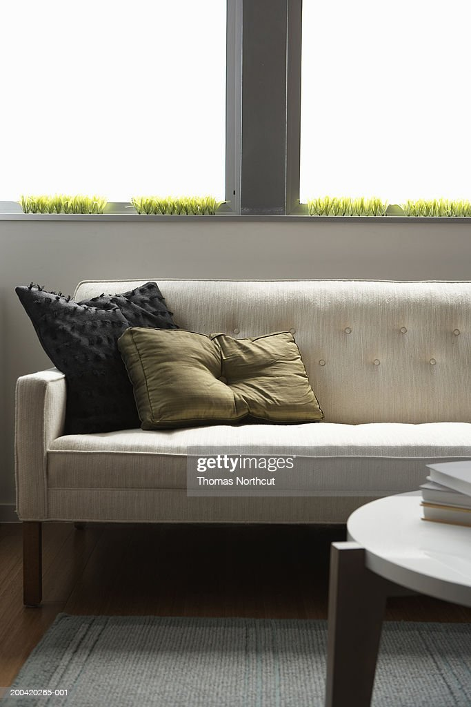 Sofa and coffee table in living room : Stock Photo