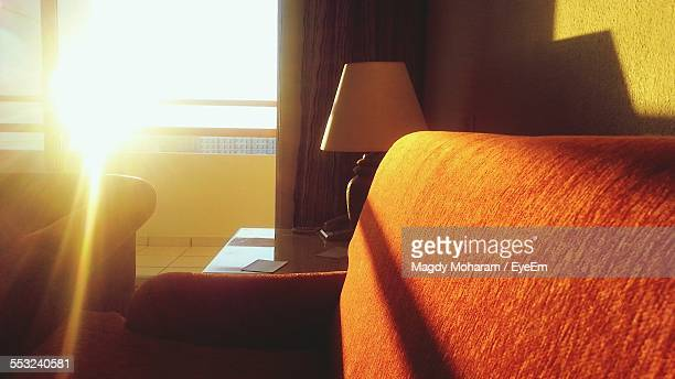 Sofa At Home Against Bright Sun