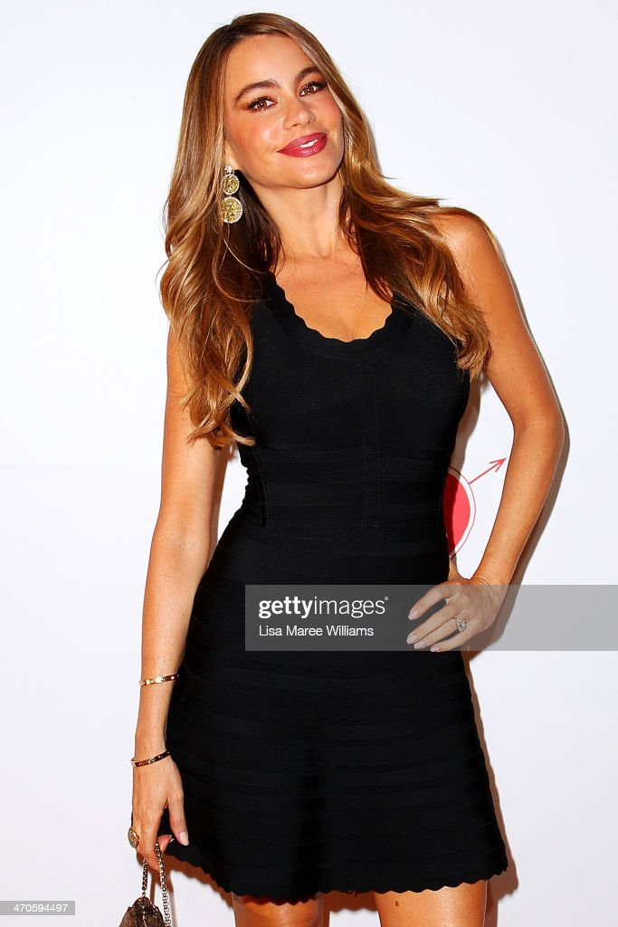Sofa Vergara arrives at the Modern Family Media Call at The Sebel on February 20 2014 in Sydney Australia The cast from the popular television...