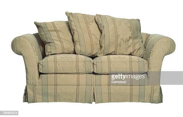 Sofa with pillows