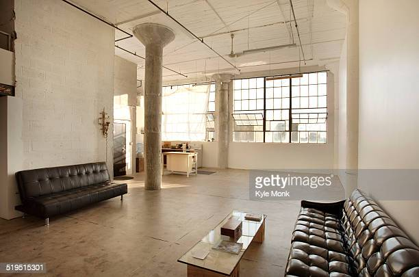 Sofas in living room of loft