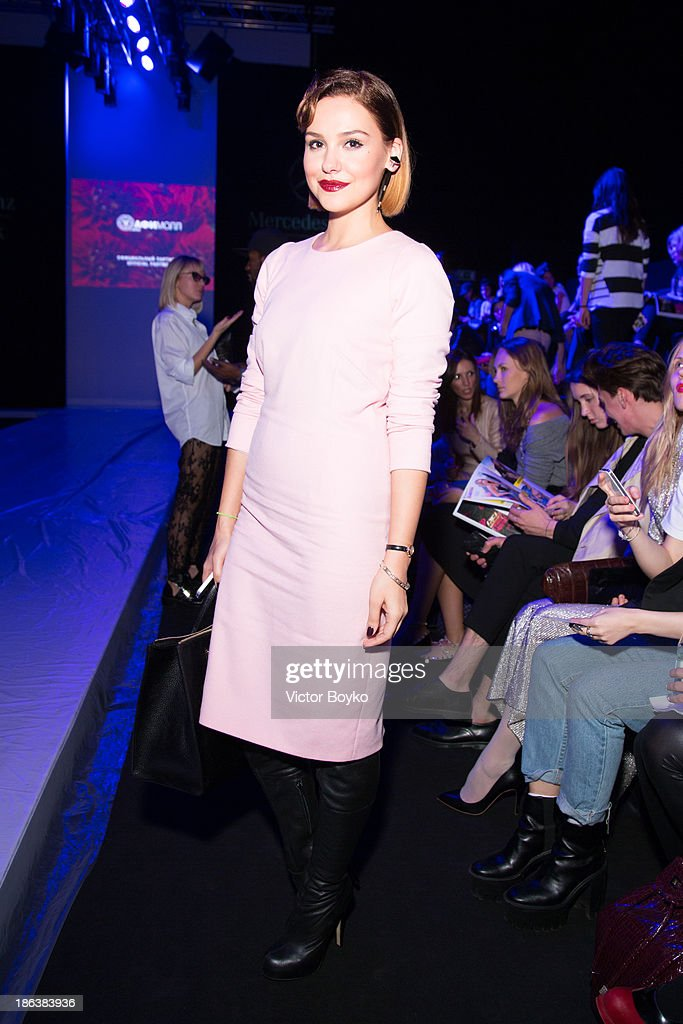 Sofi Eliseeva attends the Ruban show on day 6 of Mercedes-Benz Fashion Week S/S 14 on October 30, 2013 in Moscow, Russia.