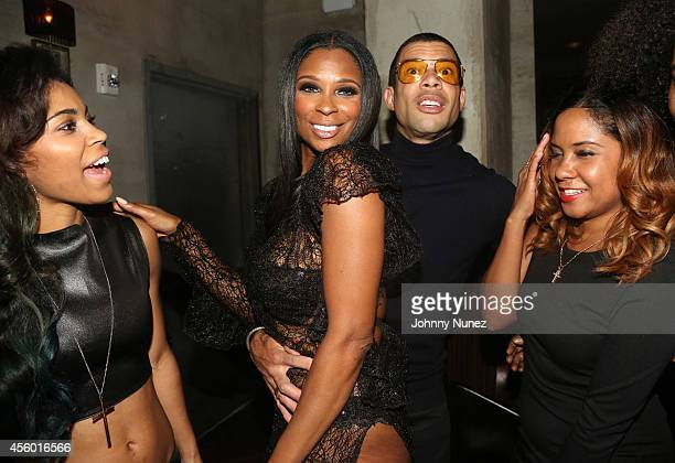 Sofi Green Jennifer Williams Al Reynolds and Angela Yee celebrate Jennifer Williams' birthday at Monarch on September 23 2014 in New York City