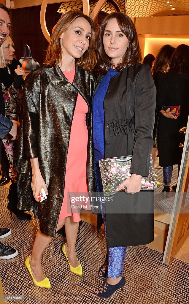 Sofia Barattieri (L) and Tania Fares attend the Moynat London boutique opening on March 12, 2014 in London, England.
