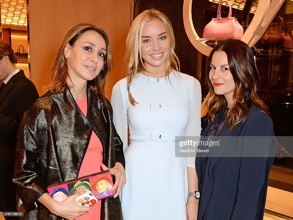 Sofia Barattieri, Noelle Reno and Juliet Angus attend the Moynat London boutique opening on March 12, 2014 in London, England.