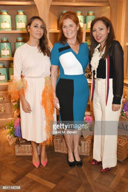 Sofia Barattieri Sarah Ferguson Duchess of York and Warly Tomei attend the 4th annual Ladies' Lunch in support of the Silent No More Gynaecological...