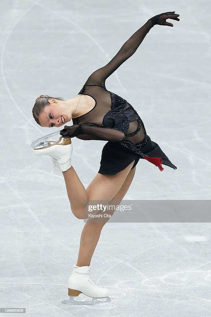 Sofia Biryukova of Russia competes in the Ladies Short Program during day one of the ISU Grand Prix of Figure Skating NHK Trophy at Sekisui Heim Super Arena on November 23, 2012 in Rifu, Japan.