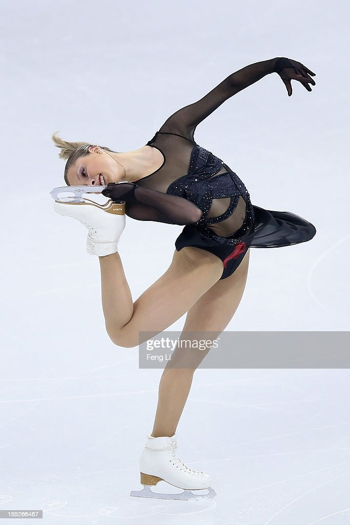 Sofia Biryukova of Russia skates in the Ladies Short Program during Cup of China ISU Grand Prix of Figure Skating 2012 at the Oriental Sports Center on November 2, 2012 in Shanghai, China.