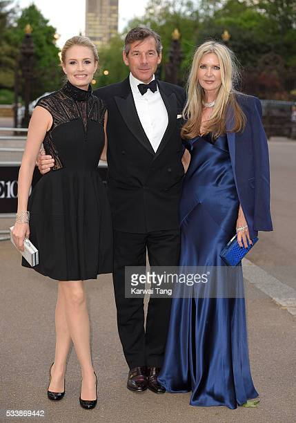 Sofia Blunt Hugh Morrison and Amanda Wakeley arrive for the Gala to celebrate the Vogue 100 Festival at Kensington Gardens on May 23 2016 in London...