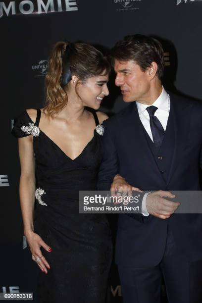 Sofia Boutella and Tom Cruise attend 'The Mummy' Paris Premiere at Le Grand Rex on May 30 2017 in Paris France