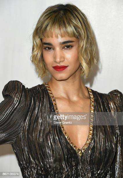 Sofia Boutella arrives at the Bottega Veneta Hosts Hammer Museum Gala In The Garden at Hammer Museum on October 14 2017 in Westwood California