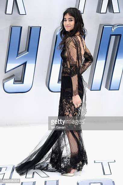 Sofia Boutella arrives for the UK premiere of 'Star Trek Beyond' at Empire Leicester Square on July 12 2016 in London UK