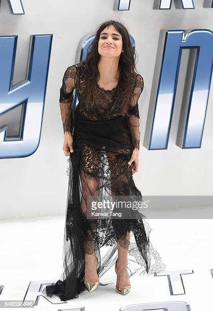 Sofia Boutella arrives for the UK premiere of 'Star Trek Beyond' on July 12 2016 in London United Kingdom