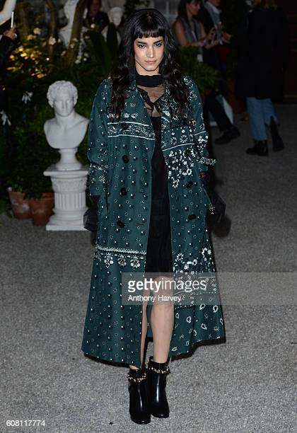Sofia Boutella attends the Burberry show during London Fashion Week Spring/Summer collections 2017 on September 19 2016 in London United Kingdom