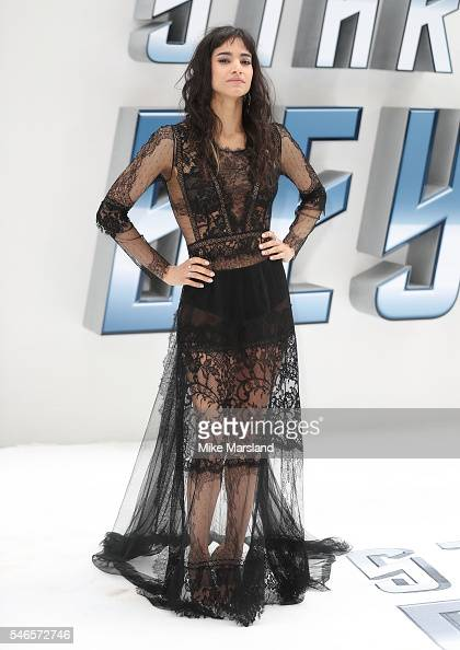 Sofia Boutella attends the UK Premiere of 'Star Trek Beyond' at Empire Leicester Square on July 12 2016 in London England