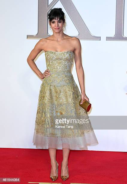 Sofia Boutella attends the World Premiere of 'Kingsman The Secret Service' at Odeon Leicester Square on January 14 2015 in London England