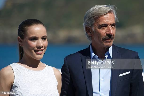 Sofia Brito and Imanol Arias attend 'Eva No Duerme' photocall during 63rd San Sebastian Film Festival on September 21 2015 in San Sebastian Spain