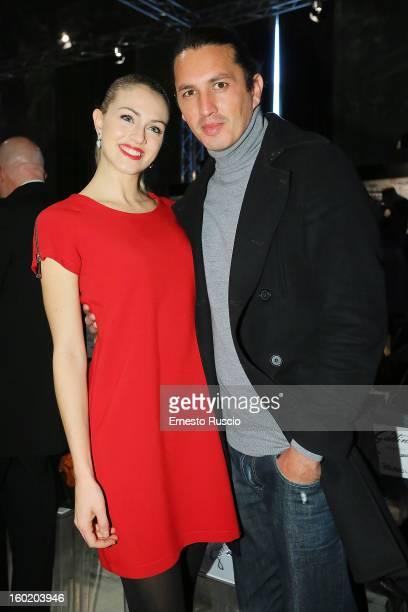 Sofia Bruscoli and Marcelo Fuentes attend the Gattinoni S/S 2013 Italian Art Couture colletion fashion show as part of AltaRoma AltaModa Fashion Week...