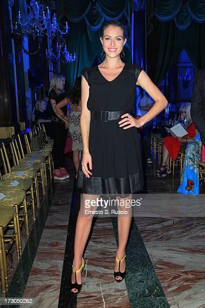 Sofia Bruscoli attends Giada Curti A/W 2013 fashion show as part of AltaRoma AltaModa Fashion Week on July 5 2013 in Rome Italy