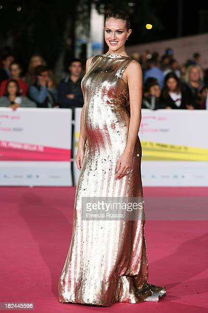 Sofia Bruscoli attends the Fiction Fest 2013 opening night at Auditorium Parco Della Mosica on September 29 2013 in Rome Italy