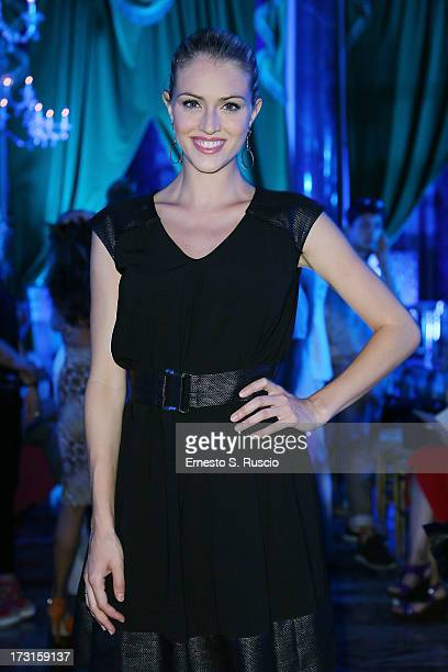 Sofia Bruscoli attends the Giada Curti Couture fashion show as part of AltaRoma AltaModa Fashion Week Autumn/Winter 2013 on July 6 2013 in Rome Italy
