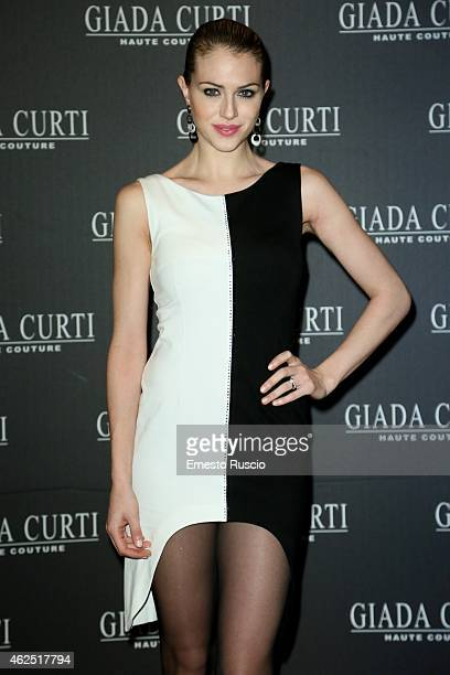 Sofia Bruscoli attends the Giada Curti fashion show as a part of AltaRoma 2015 at Hotel St Regis on January 30 2015 in Rome Italy